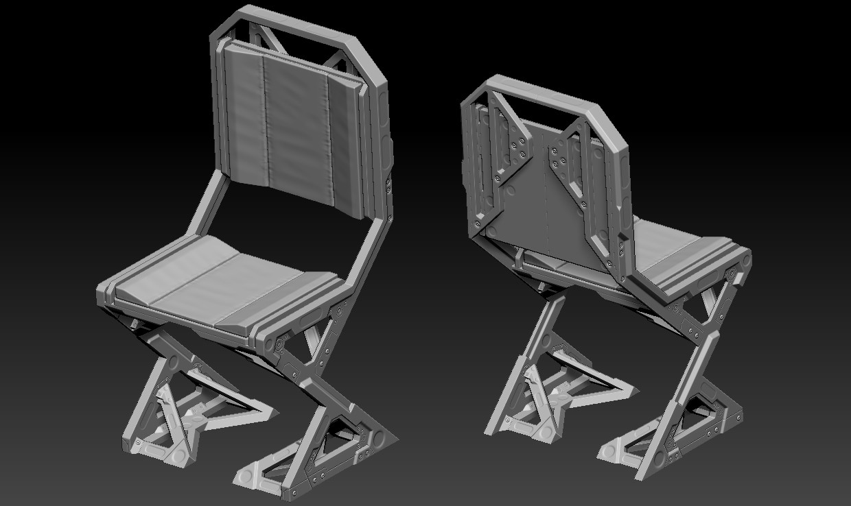 Chair on Zbrush