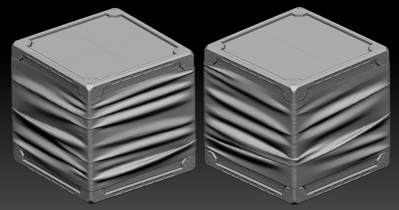 Crate on Zbrush