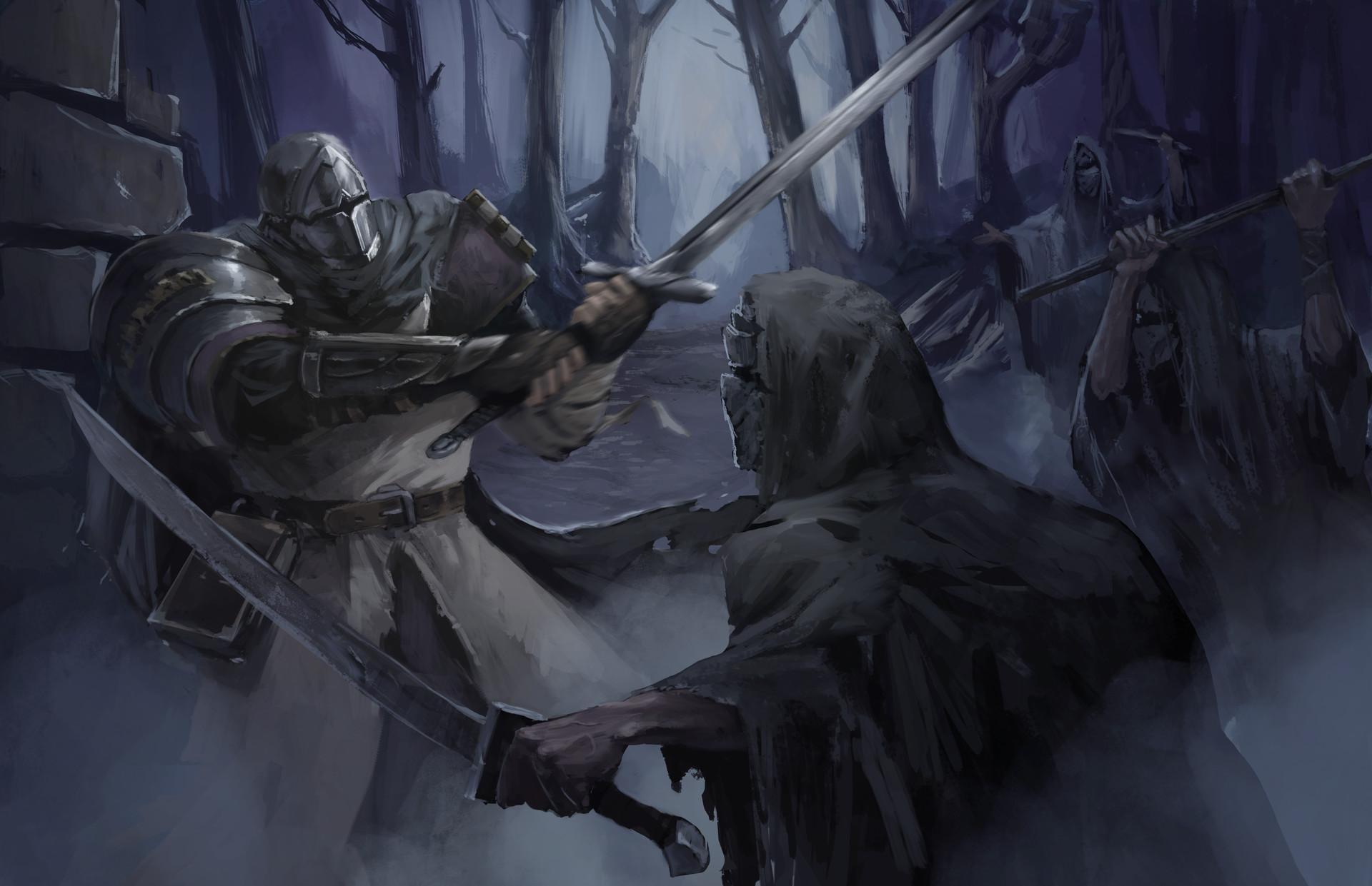 Sergio roman ilustracion dark souls faith