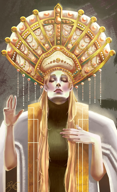 Elisa cella elisa cella high priestess close up