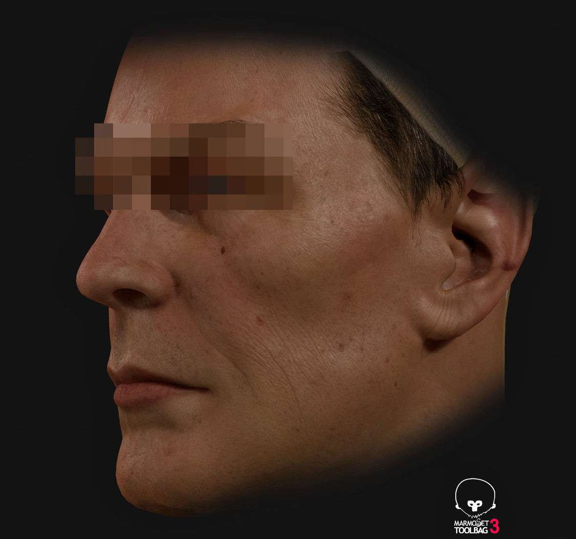 Wip real time  Texturing shading and lighting test on Mr Spock