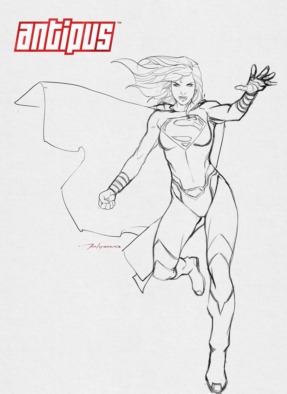 Antipus artworks super girl by