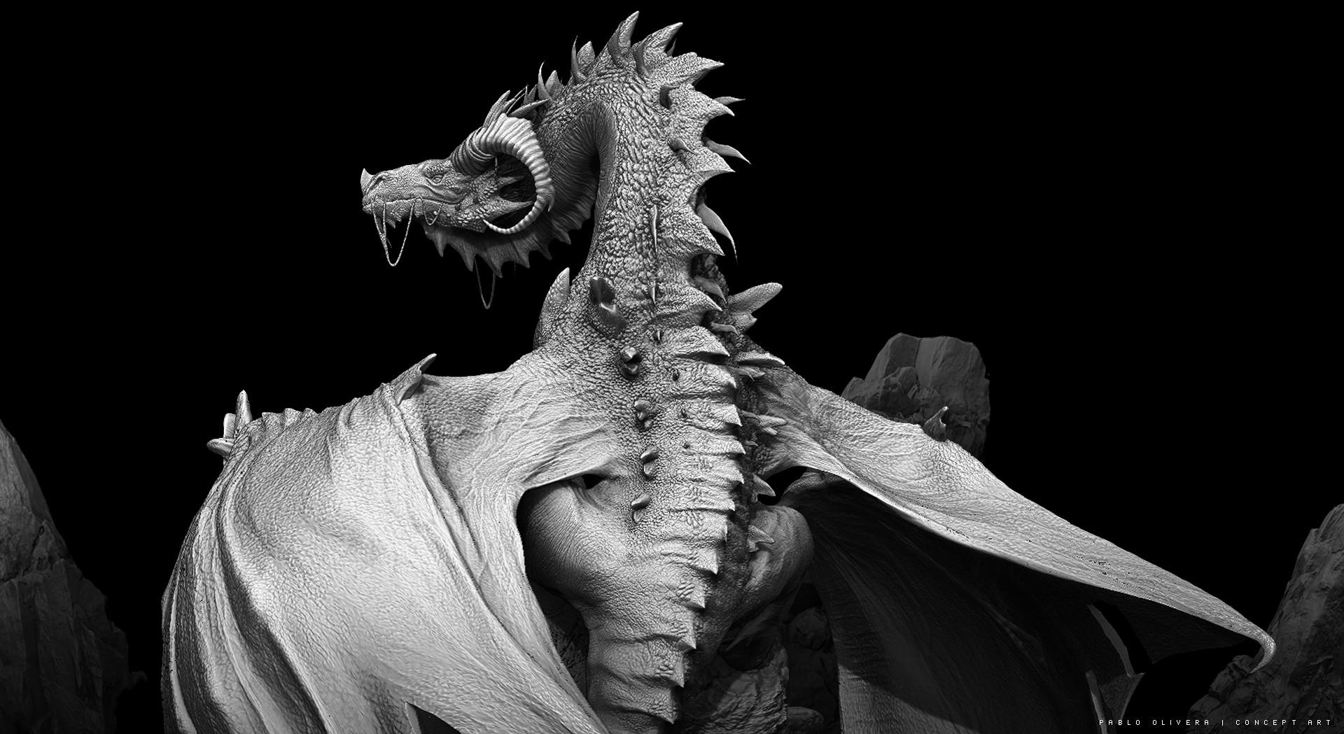 Pablo olivera dragones wacom zbrush 14