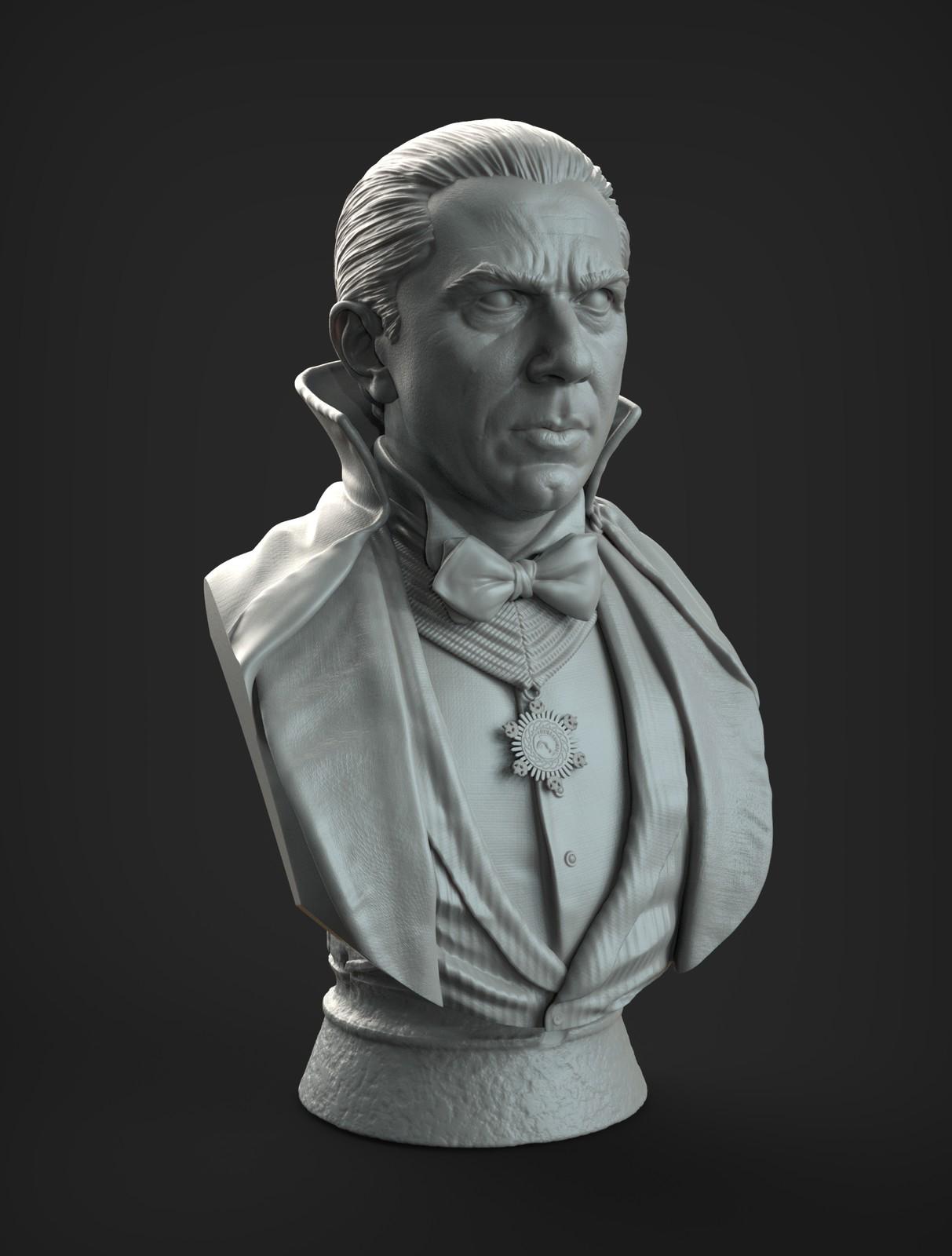 Bela Lugosi tribute bust