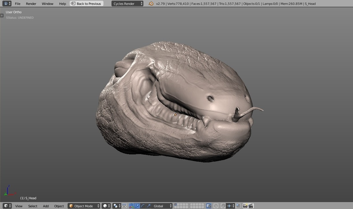 Test sculpting with various brushes in blender