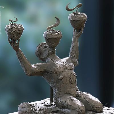 Surajit sen dhunuchi dance digital sculpt surajitsen 16102018