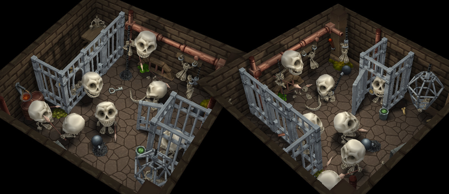 Jail with Skeletons