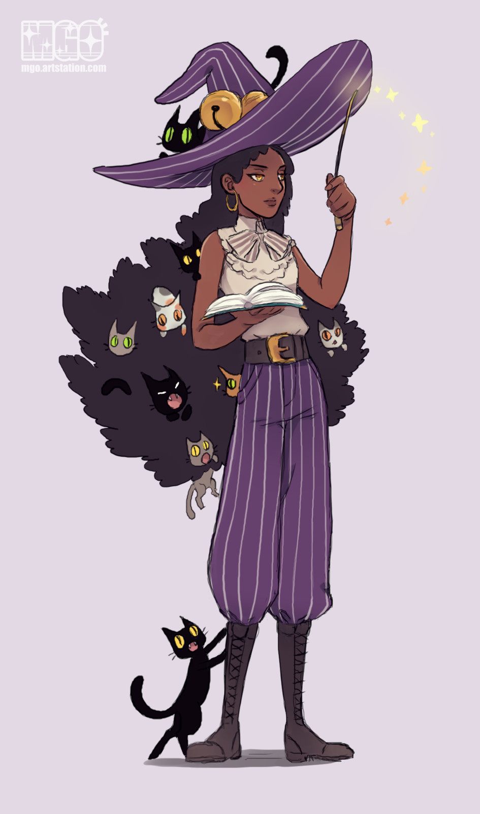 Cat hoarder witch