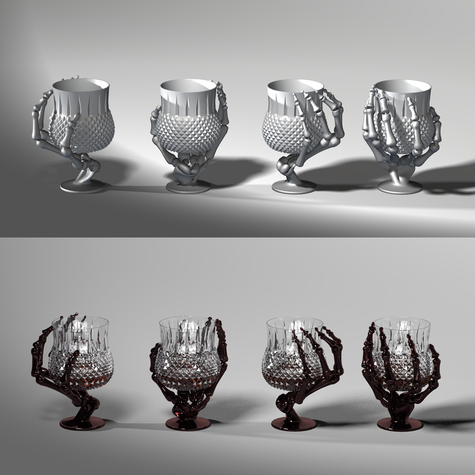 This is a 360 turnaround of the brandy snifter, rendered in SuperFly/Cycles.