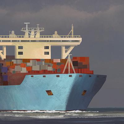 Michiel van den heuvel freighter study