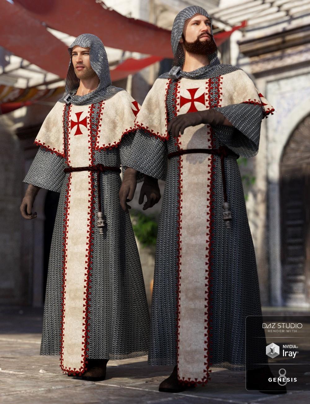 ArtStation - dForce Templar Outfit for Genesis 8 Males, Lisa