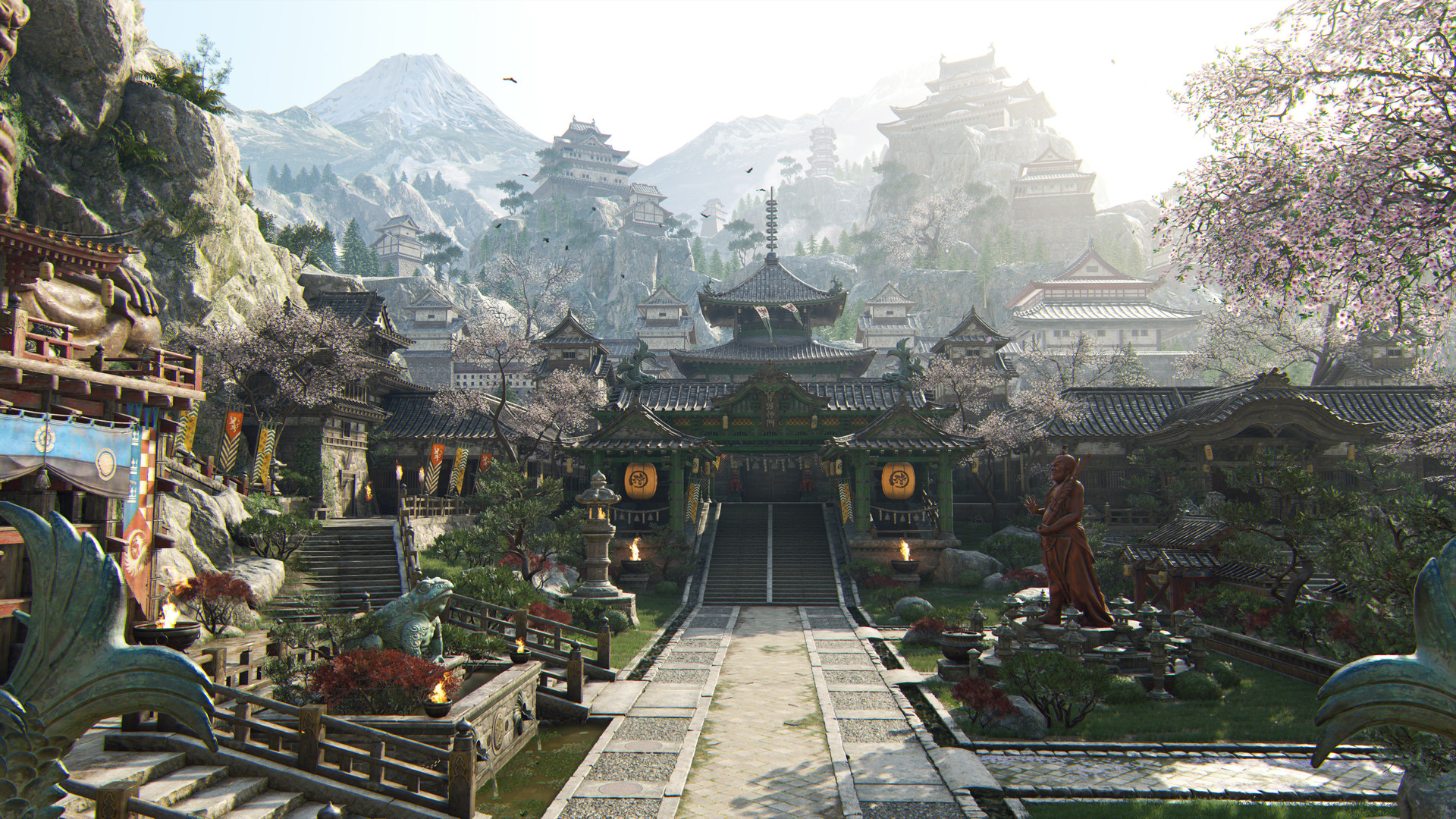 Artstation For Honor Temple Garden Jay Paul Singh