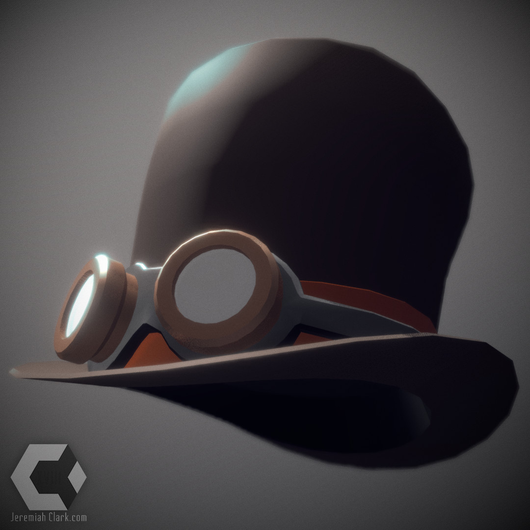 A very simple, low poly steampunk-style top hat.