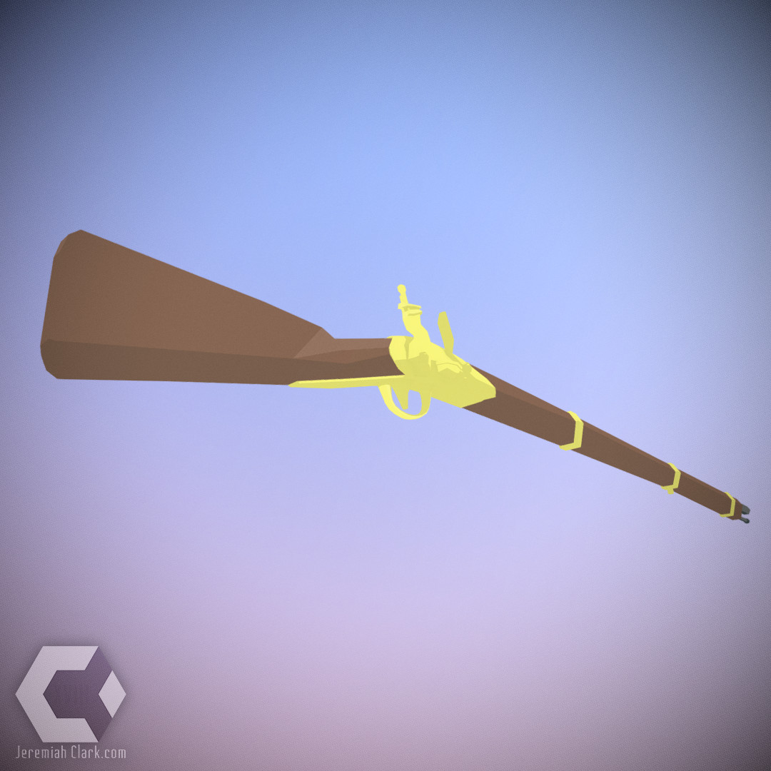 Jeremiah clark low polygon musket