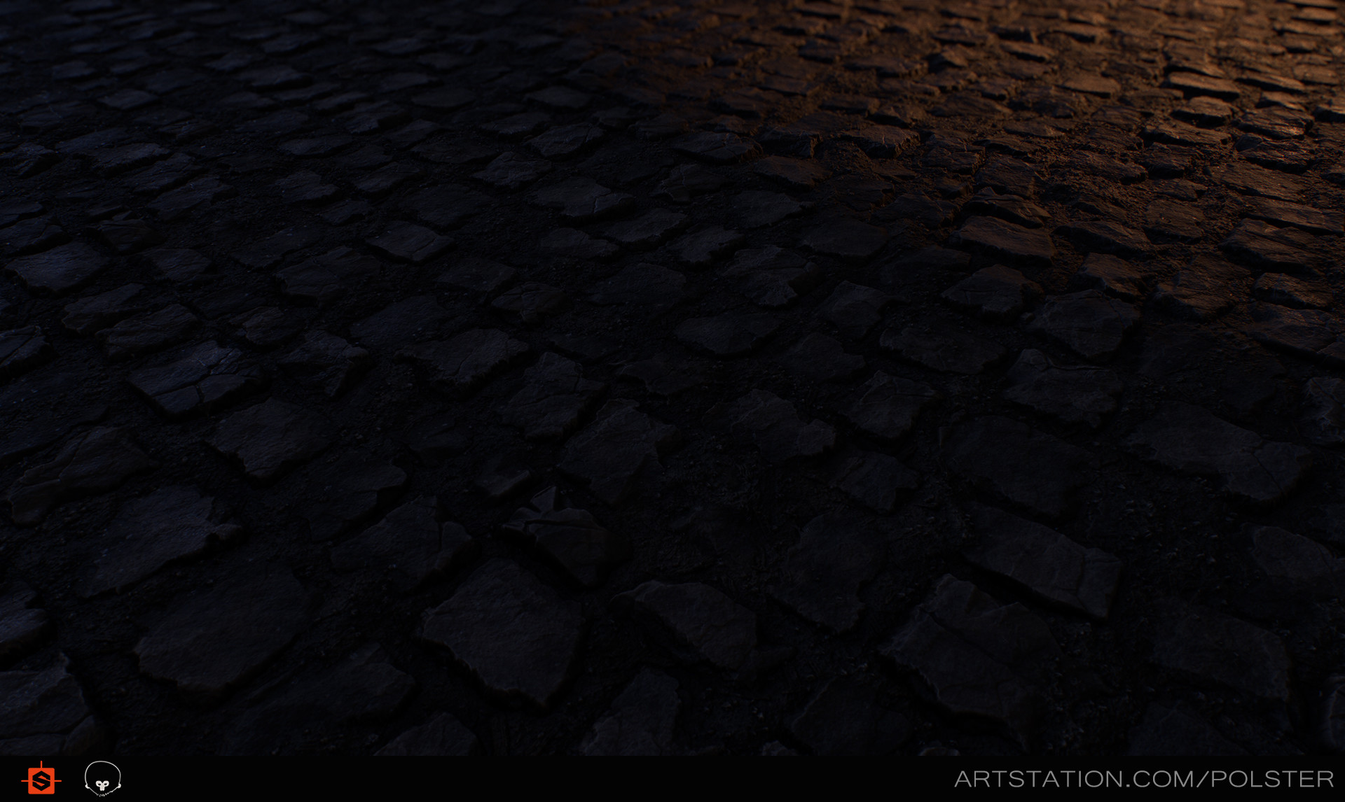 Stefan polster rough cobblestone torches