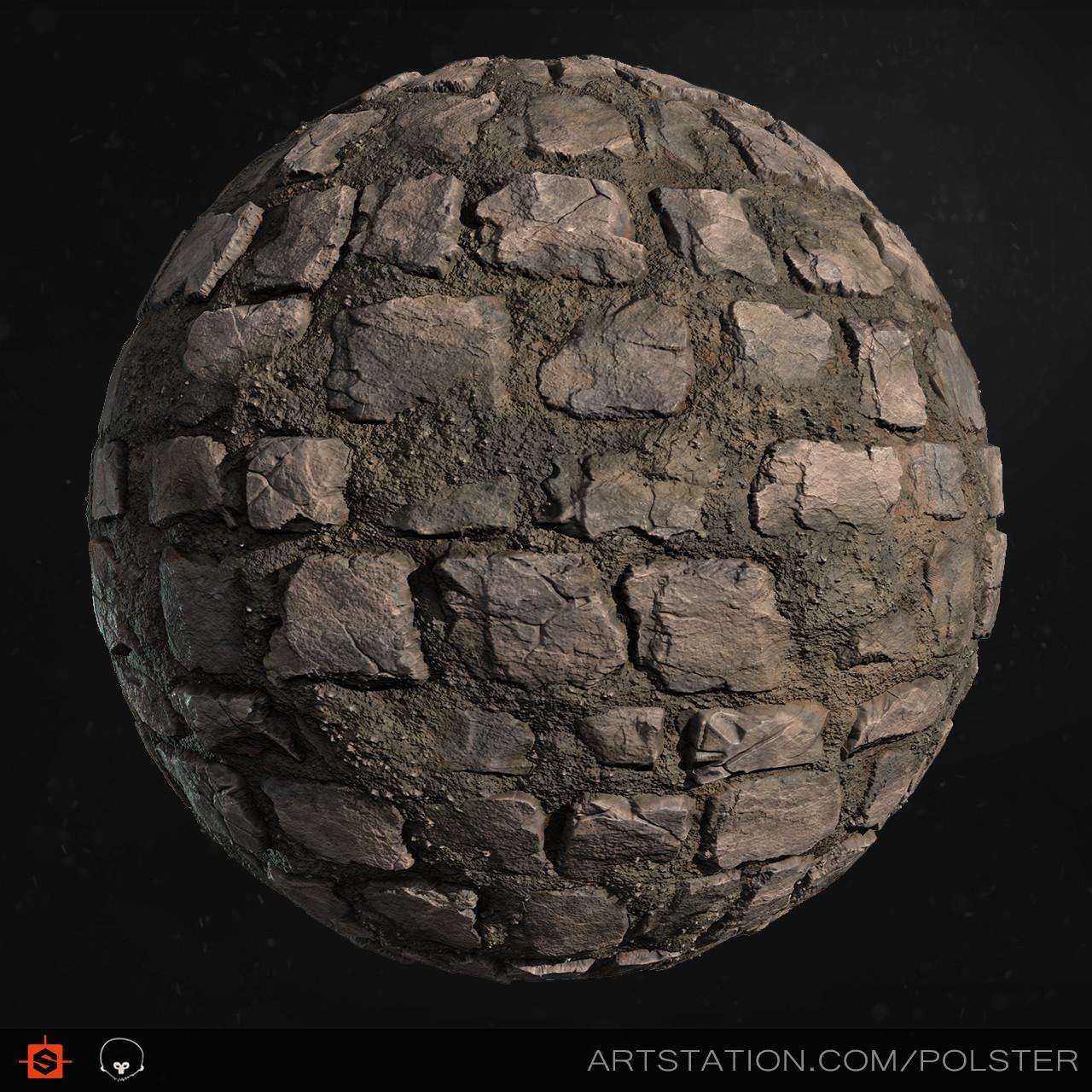 Stefan polster rough cobblestone sphere c