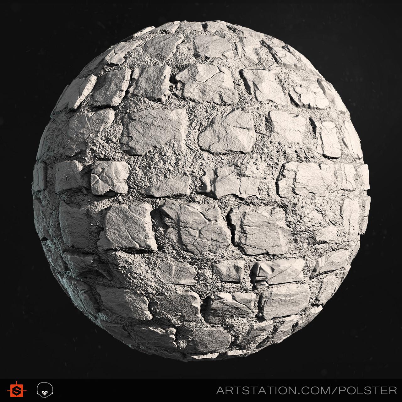 Stefan polster rough cobblestone sphere