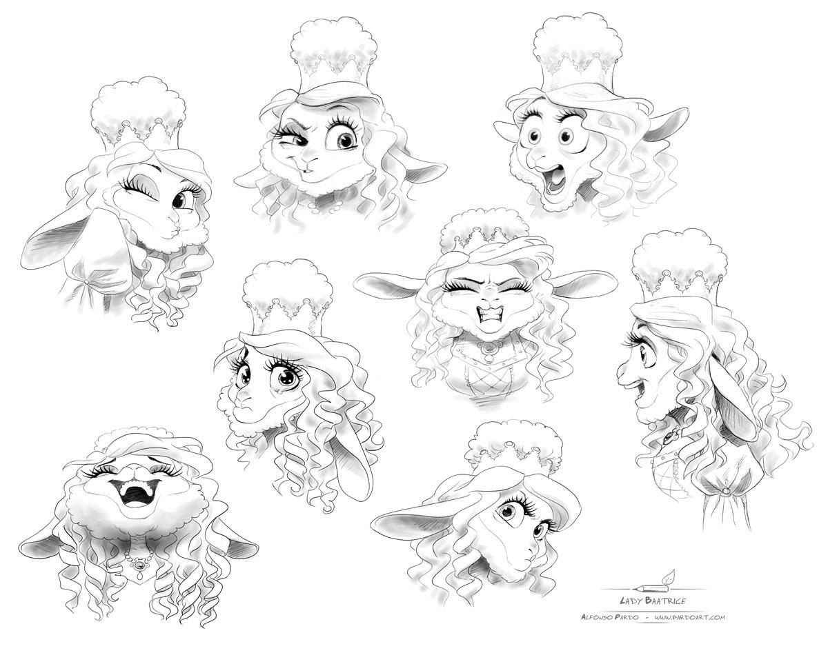 Alfonso pardo martinez zorro lady baatrice expressions