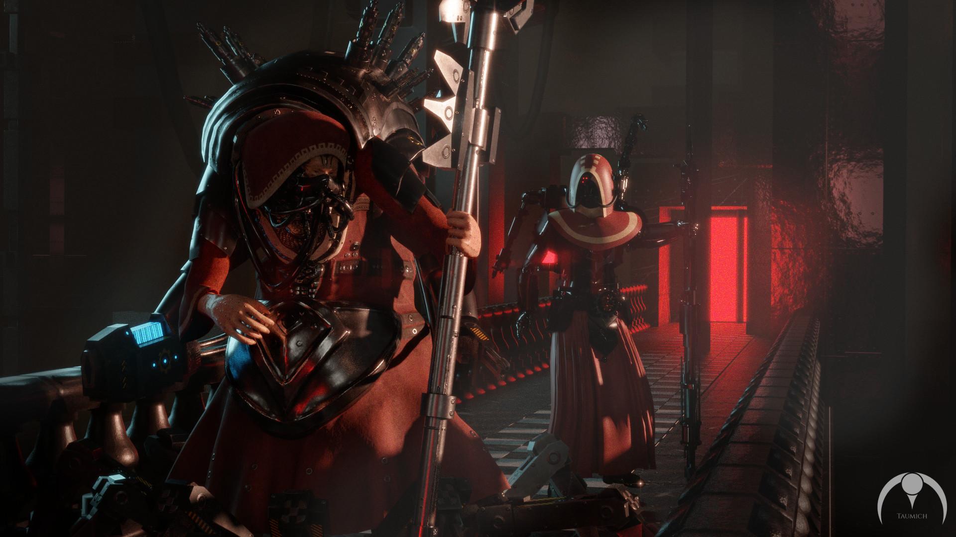Artstation Warhammer 40 000 Tech Priest Magos Dominus Michael