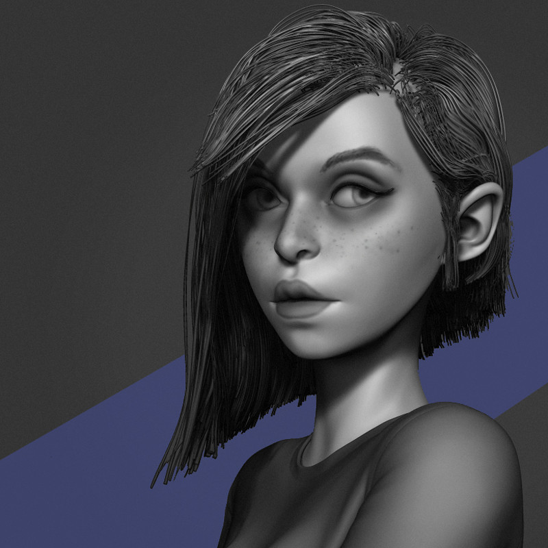 Stylized female speed sculpt