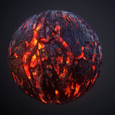 Lava Ground Seamless PBR Texture