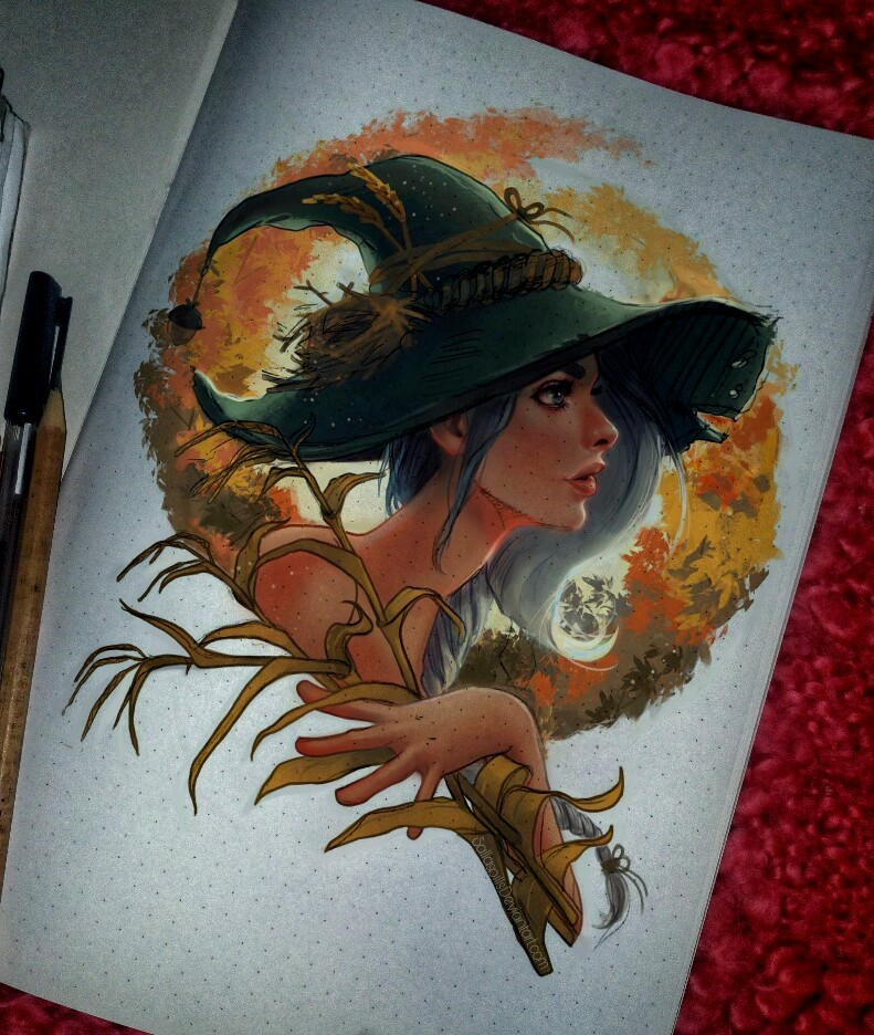 ArtStation - Art in the autumn theme , Sallaspills