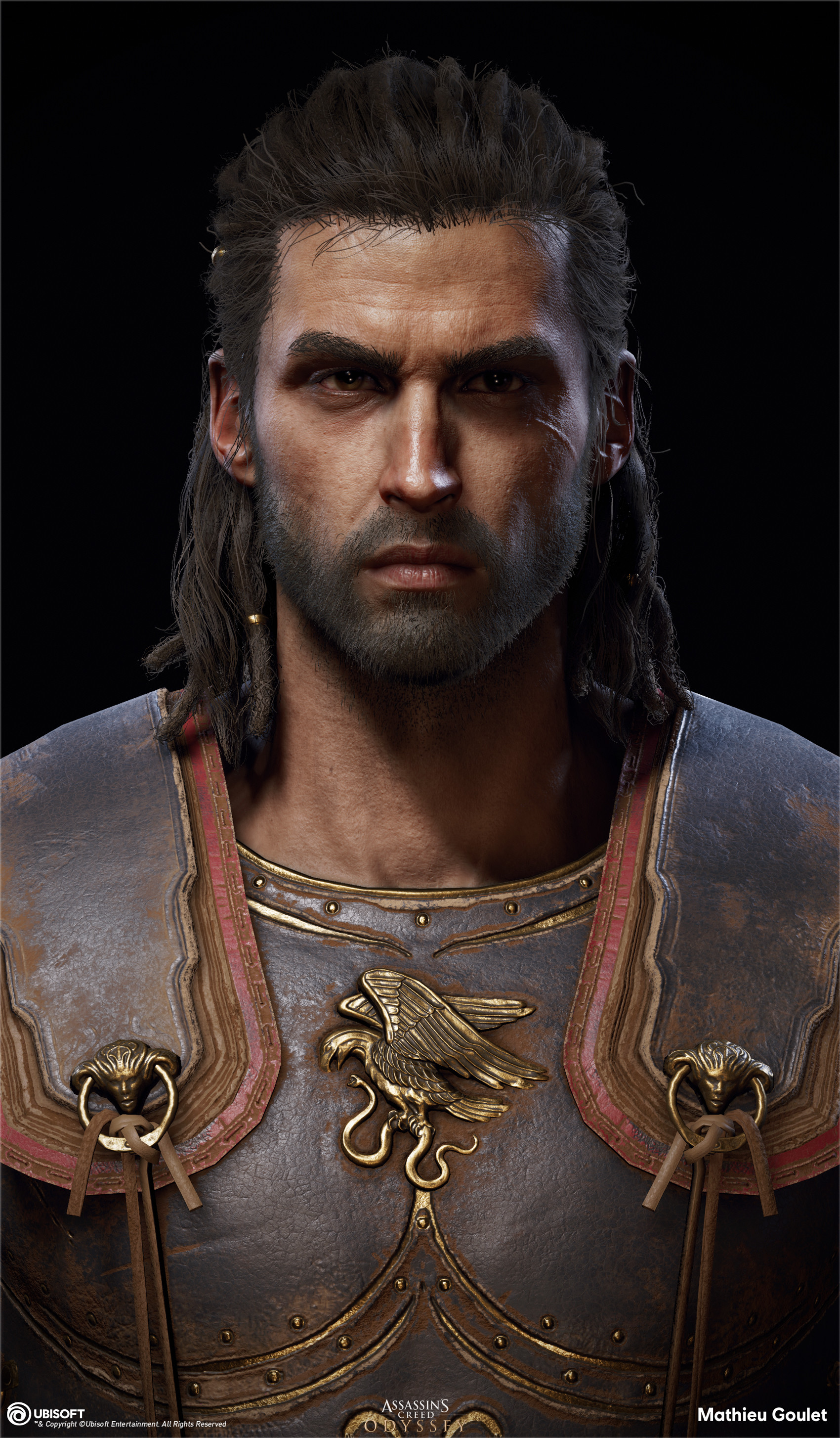 Artstation Assassin S Creed Odyssey Alexios Head Mathieu Goulet
