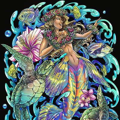 Amelie belcher hawaiianmermaidflat72