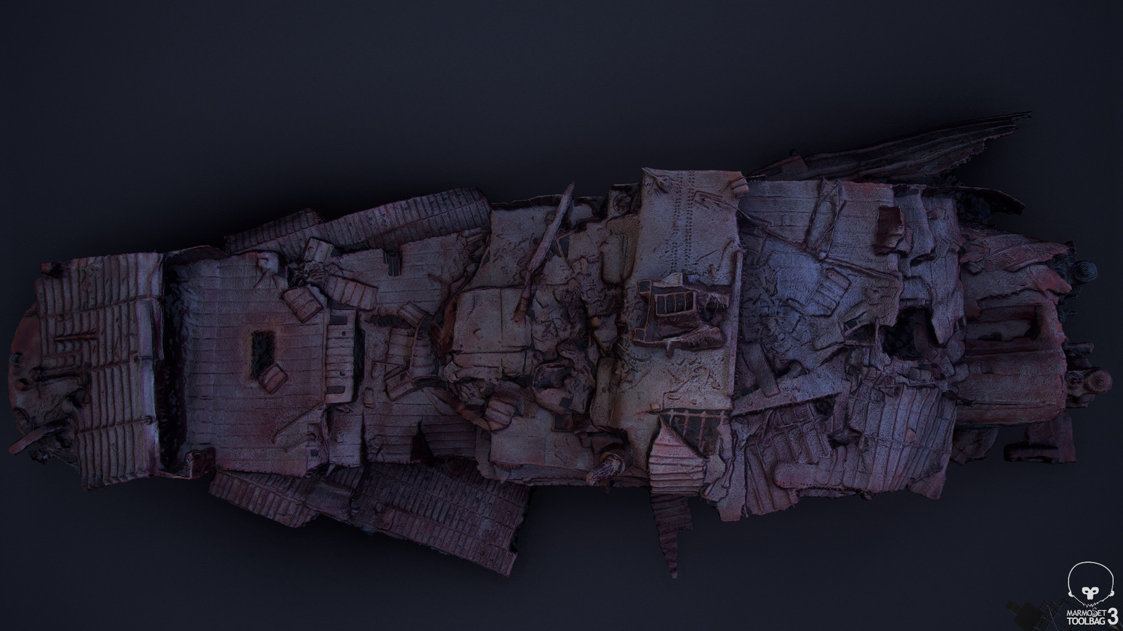 Agisoft Photoscan output geometry, viewed in Marmoset Toolbag 3 (01)
