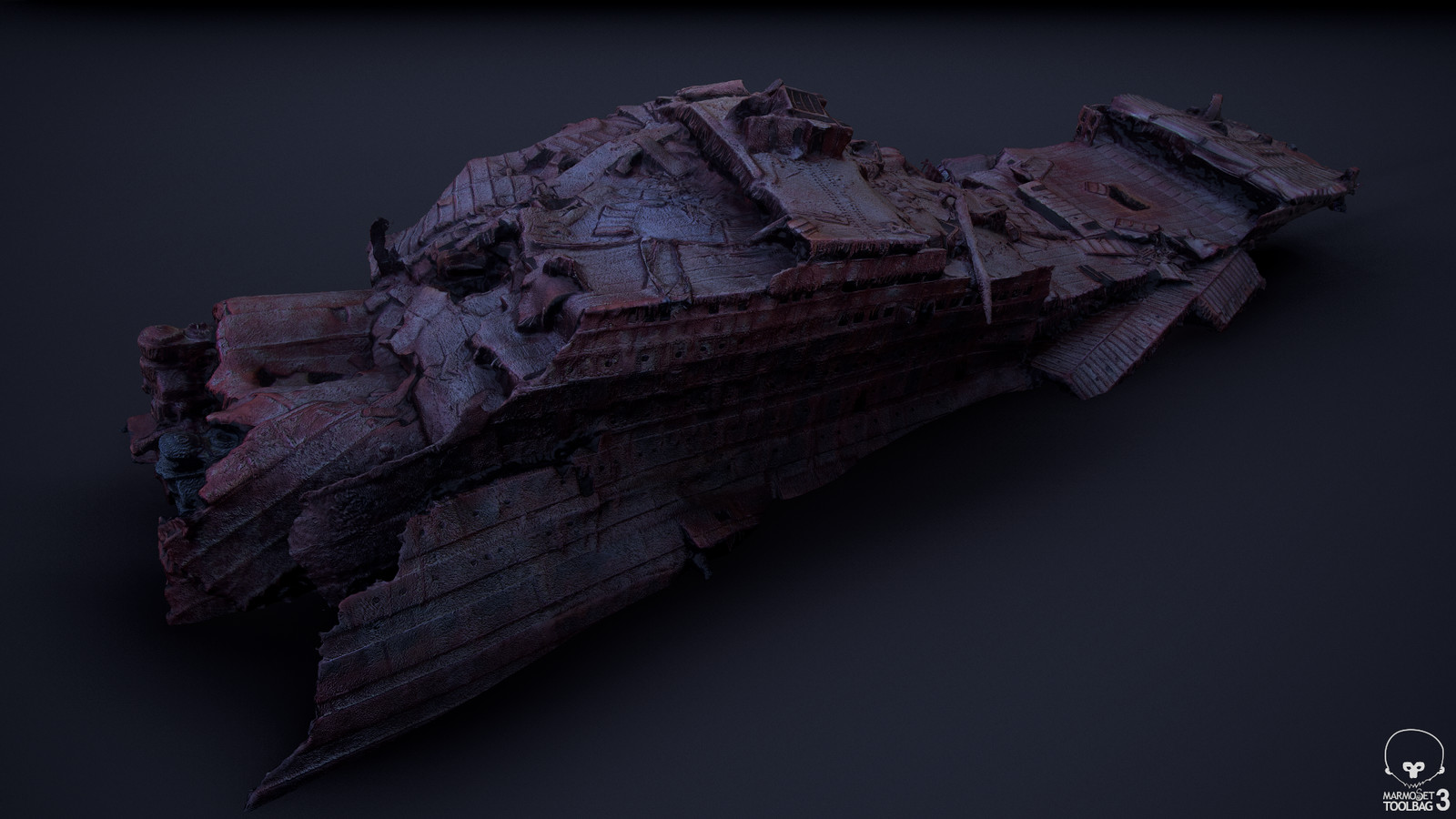 Agisoft Photoscan output geometry, viewed in Marmoset Toolbag 3 (02)