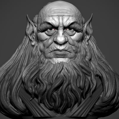 WIP -  3D sculpt based of a traditional sculpture by the awesome Daniel Marcondes