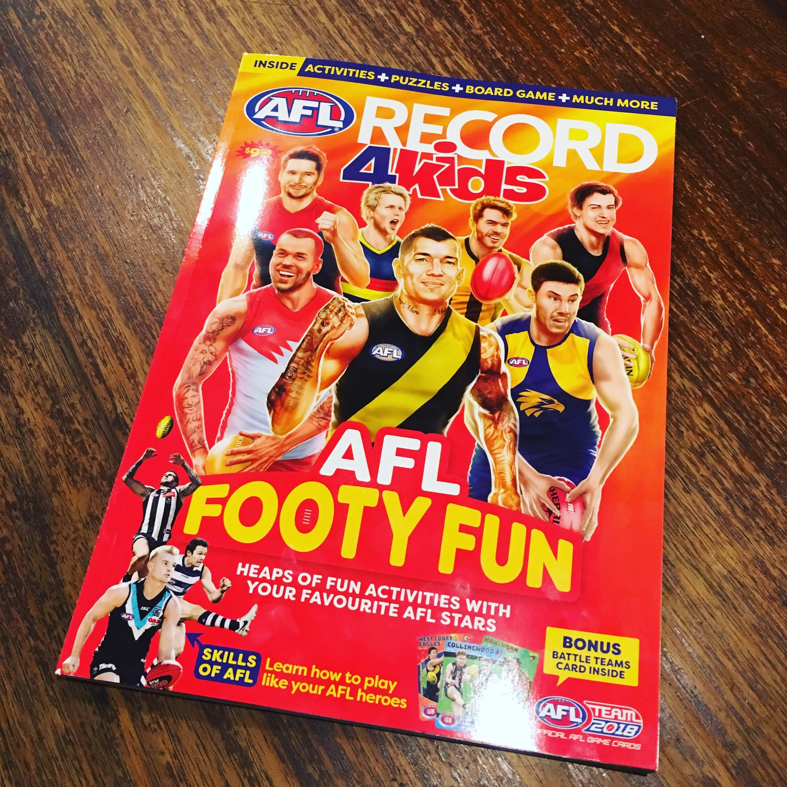 AFL TeamCoach Record4Kids, featuring Star Wild Card artworks