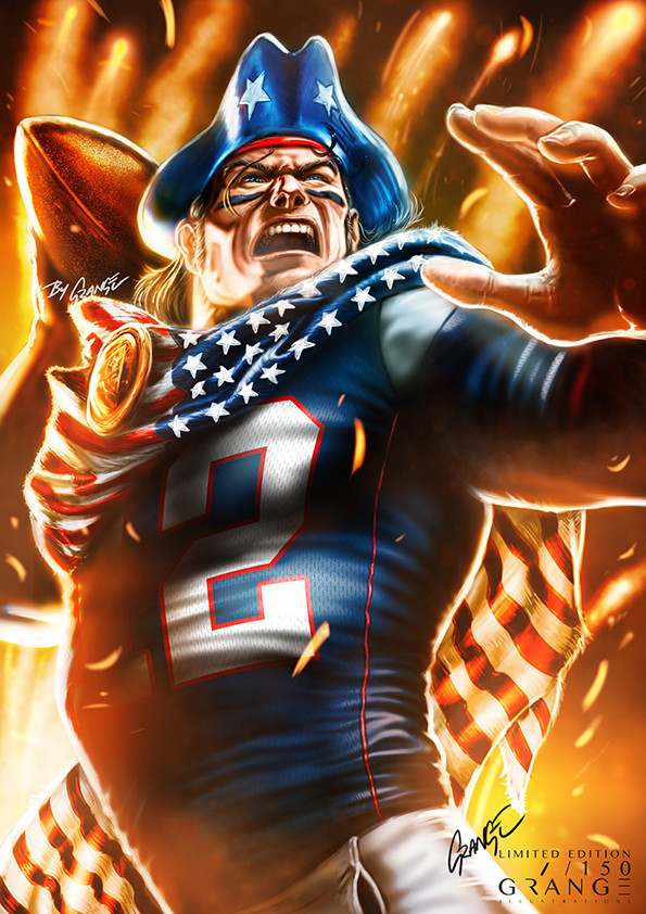 The First of mm NFL Mascot Artworks