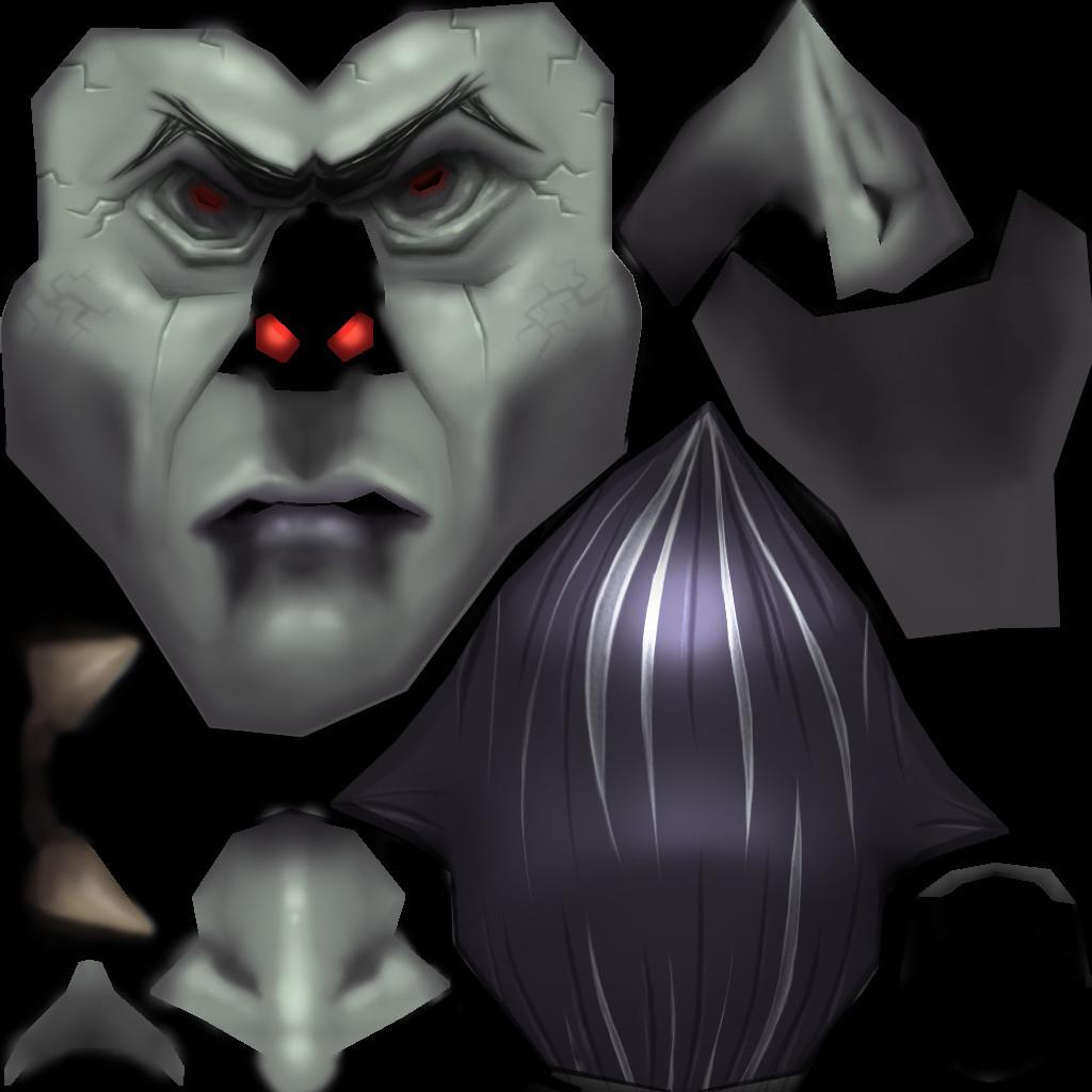 Dracula Head Texture - 1024x1024
