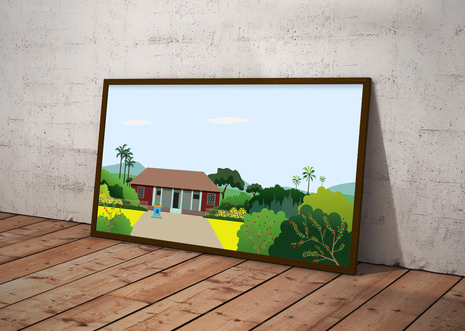 Rajesh r sawant free horizontal photo frame mockup psd konkan files