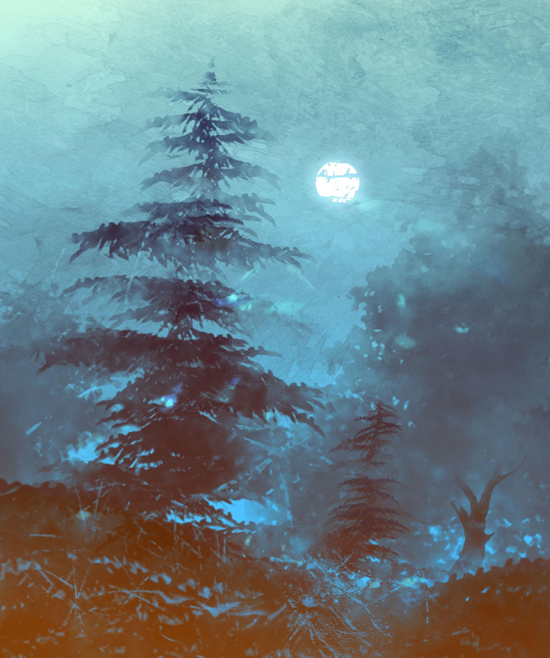 Emrullah cita watercolor detail