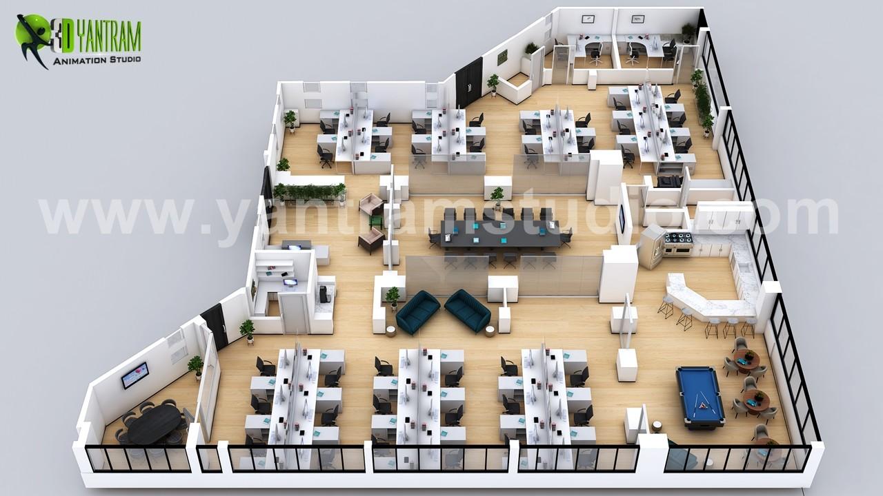 Artstation 3d Office Virtual Floor Plan Ideas By Yantram Architectural Design Studio Amsterdam Netherland Yantram Architectural Design Studio