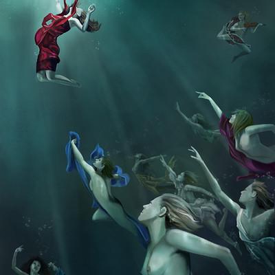 Poveda digital art sirenas proc2
