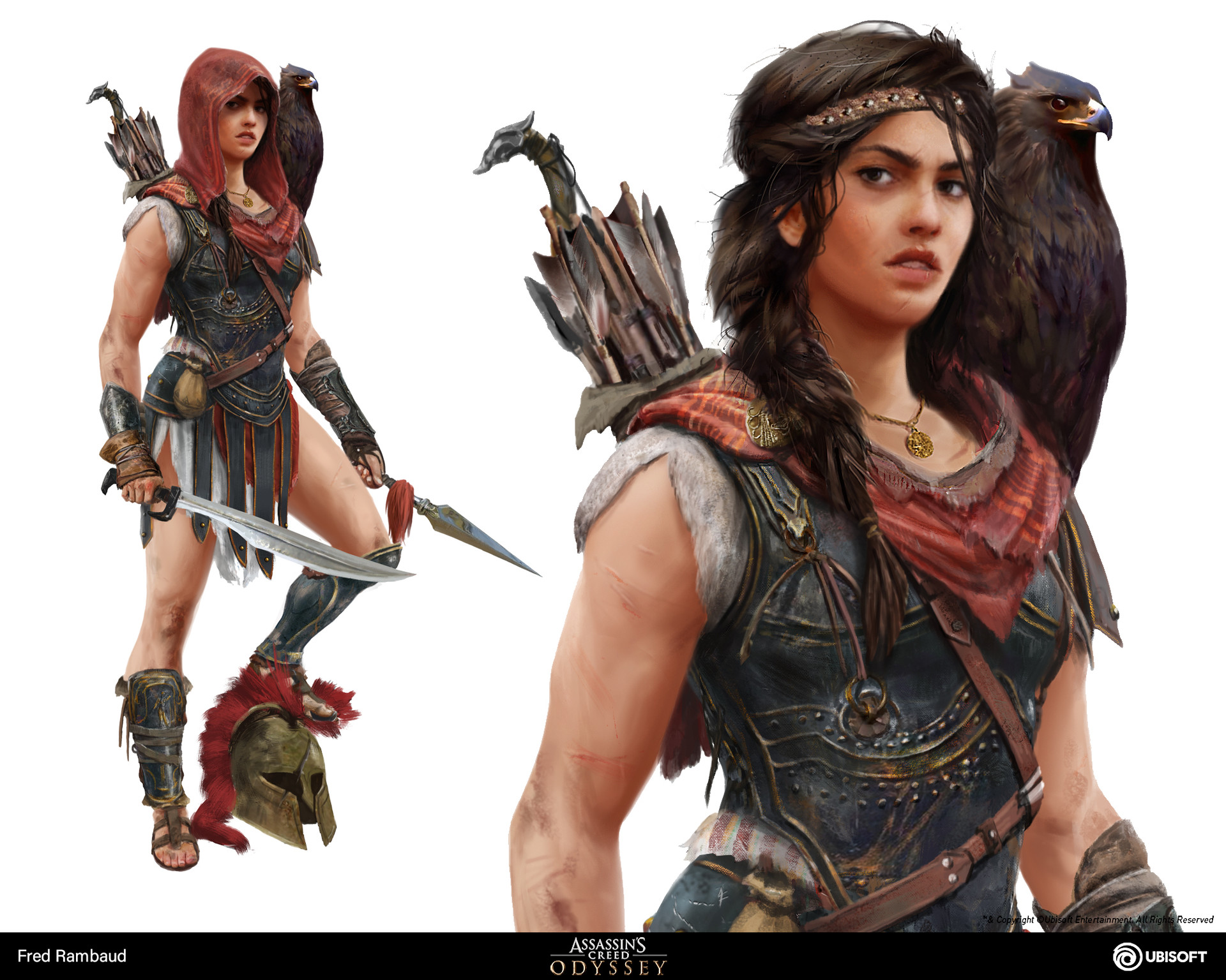Artstation Kassandra Assassin S Creed Odyssey Concept Art Fred Rambaud