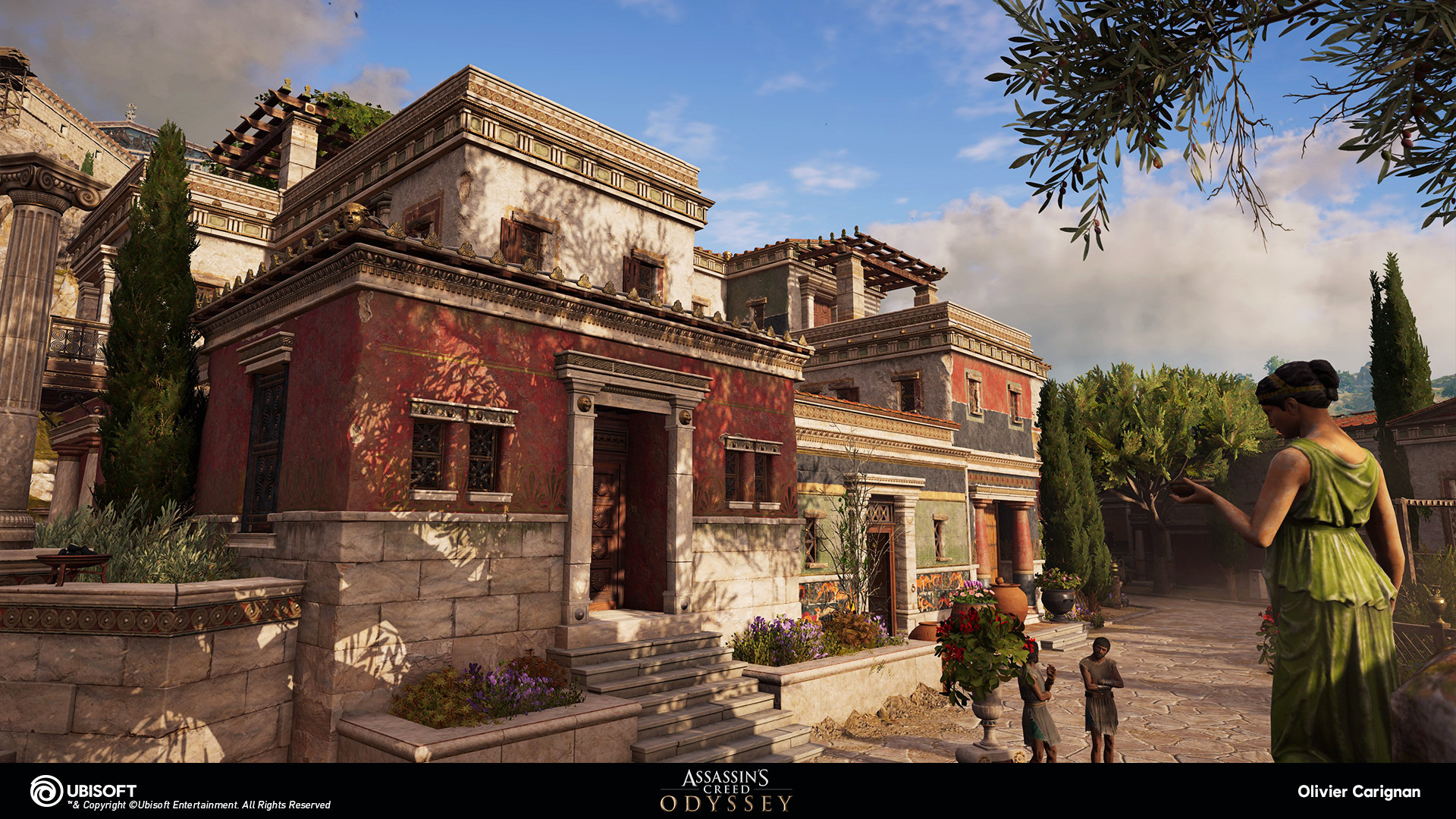 Artstation Assassin S Creed Odyssey Rich Villas Architectural Kit Olivier Carignan