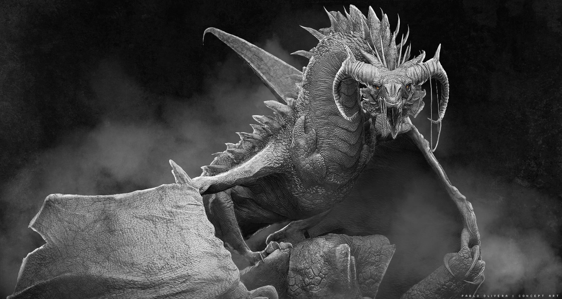 Pablo olivera dragones wacom zbrush 02