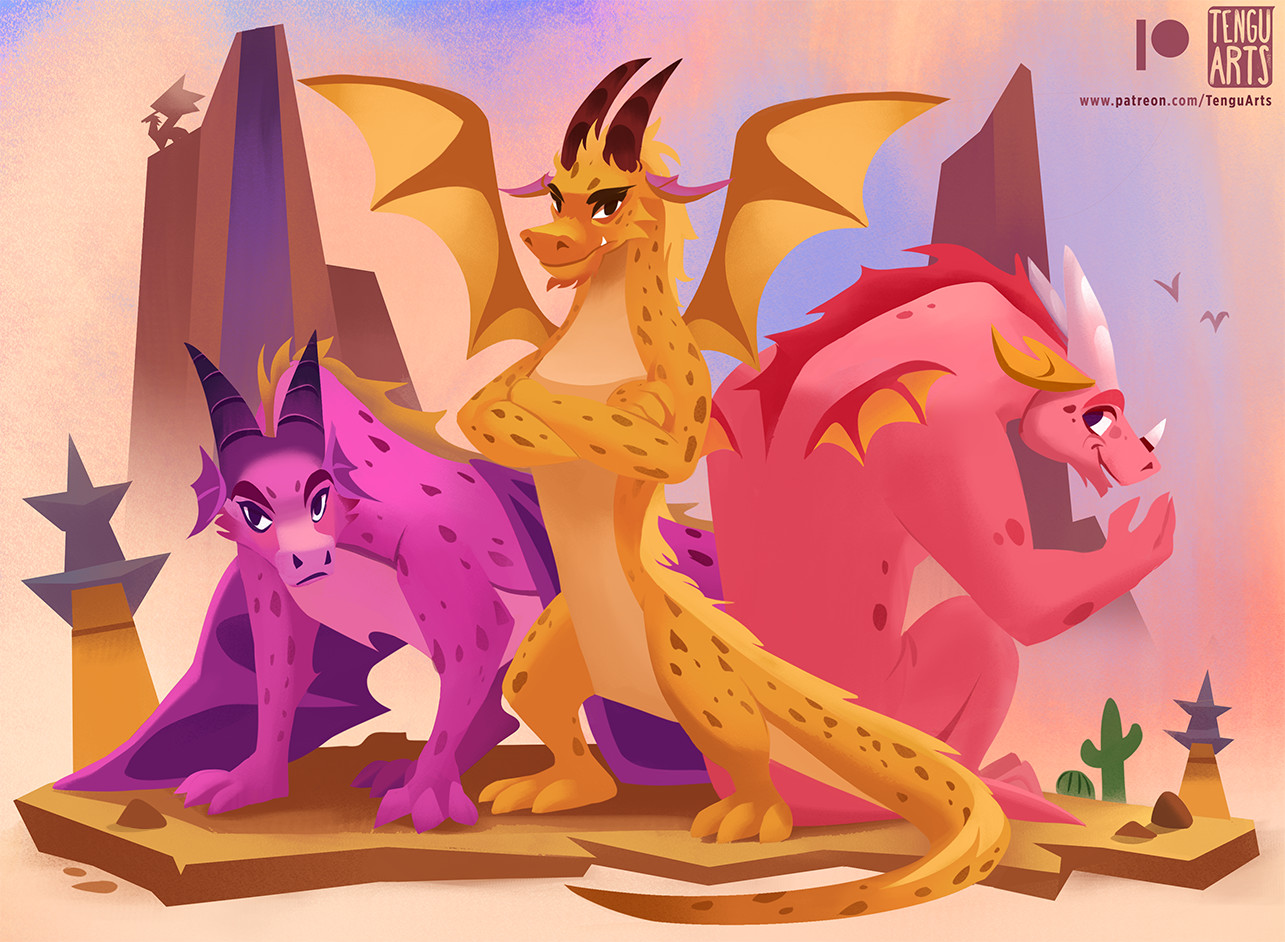 Tengu arts fave dragons internets