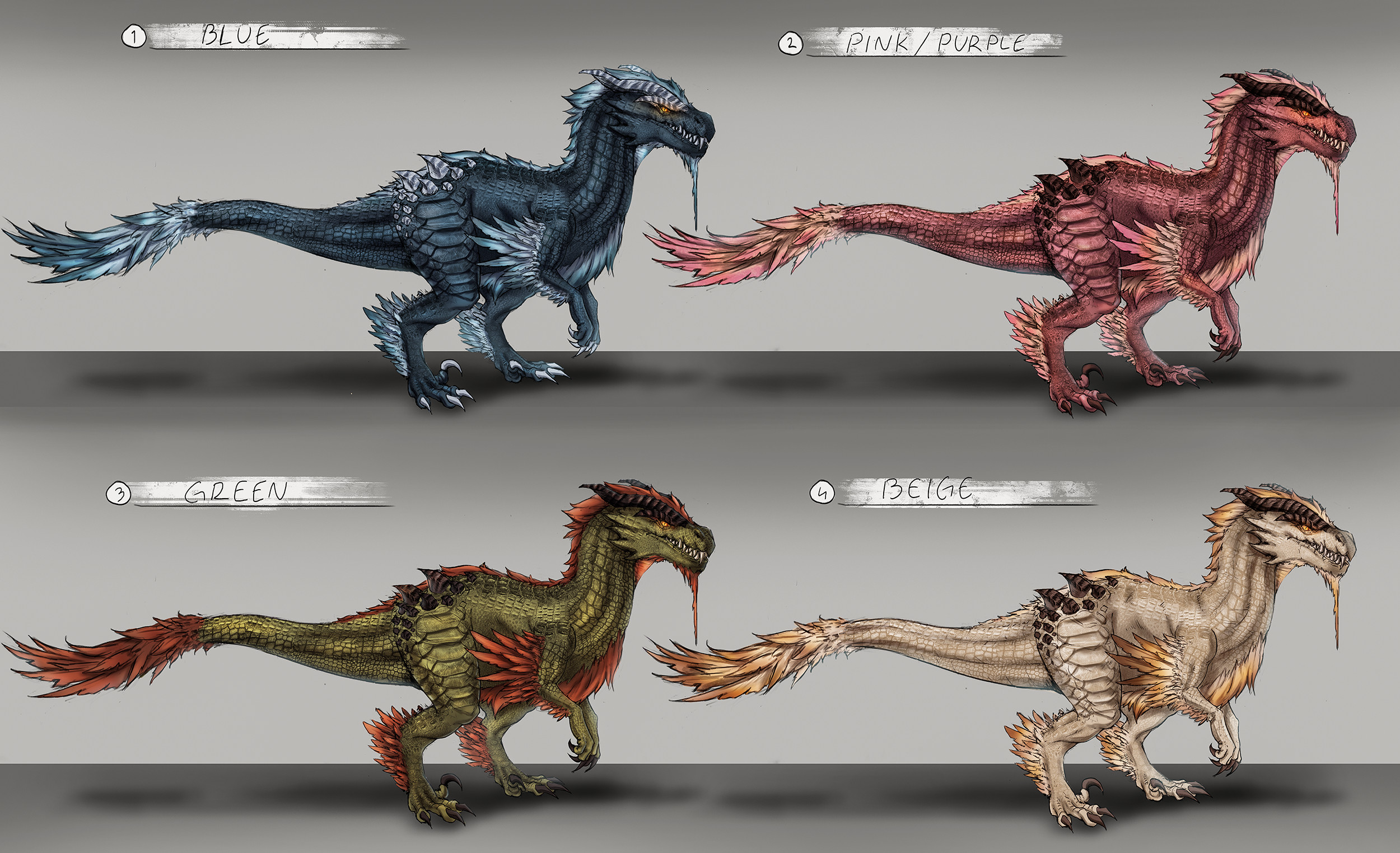 Color options. Of course everyone wants a raptor in their own favorite color!