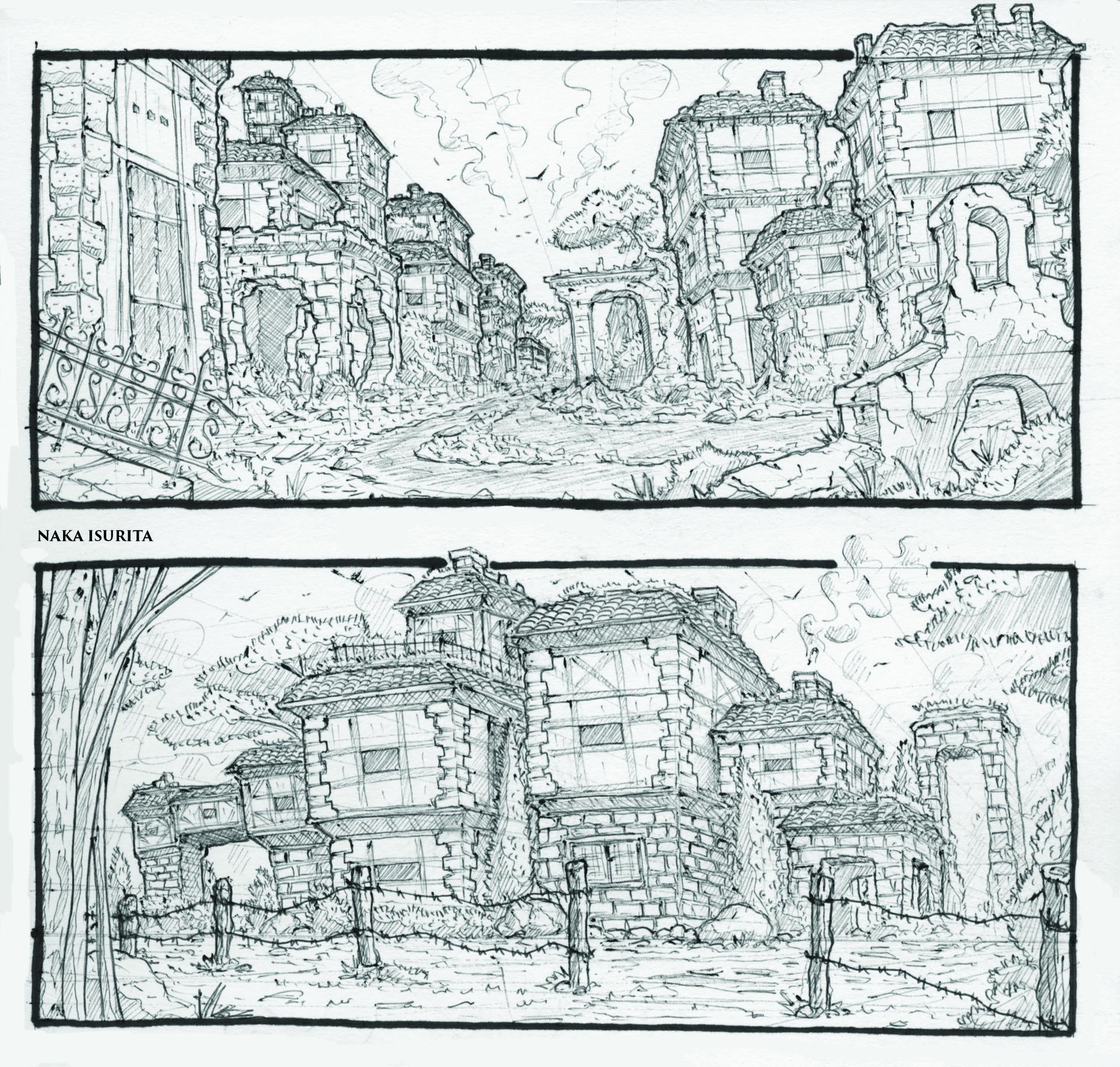 Naka isurita environment sketch 01