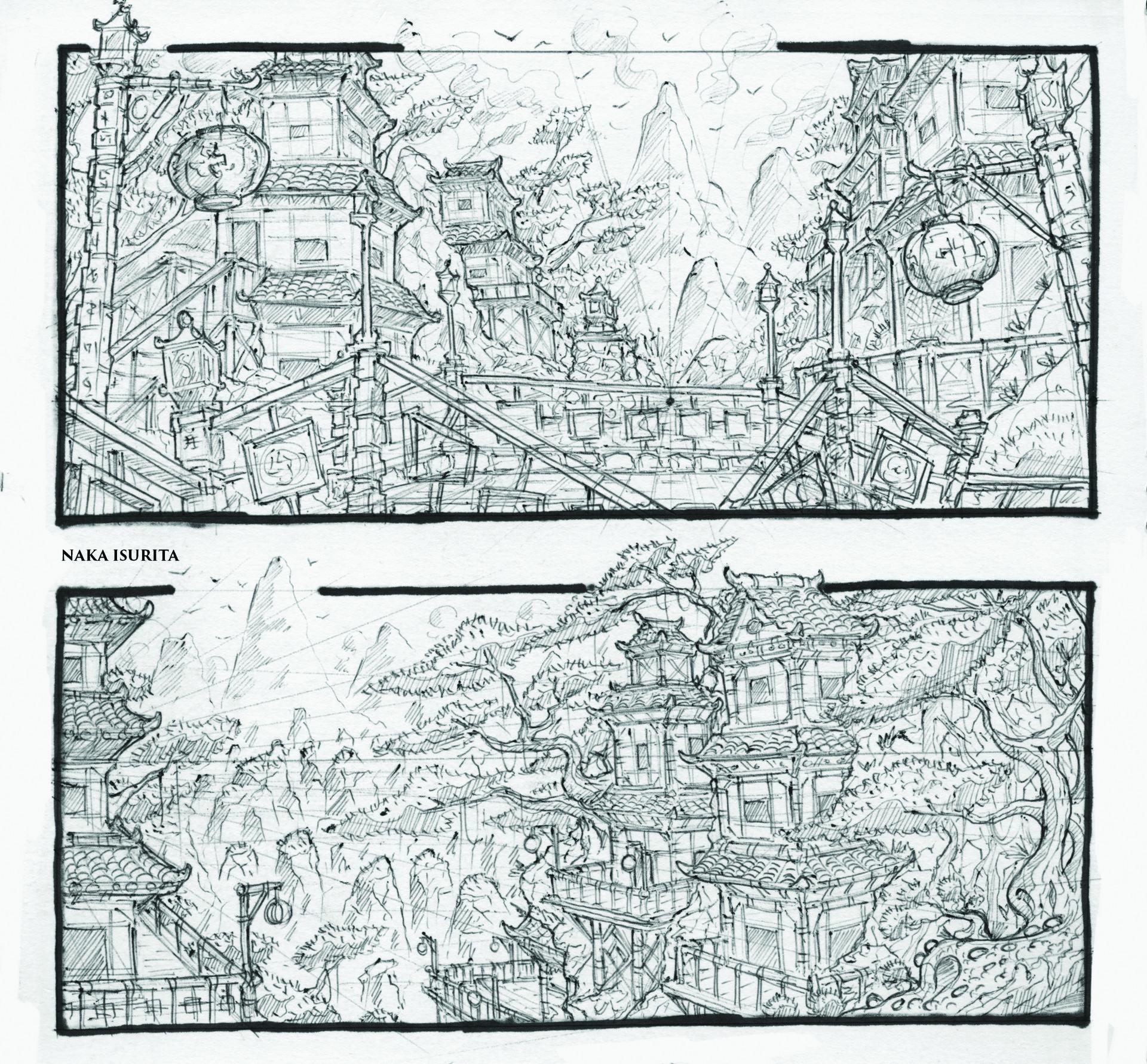 Naka isurita environment sketch 03