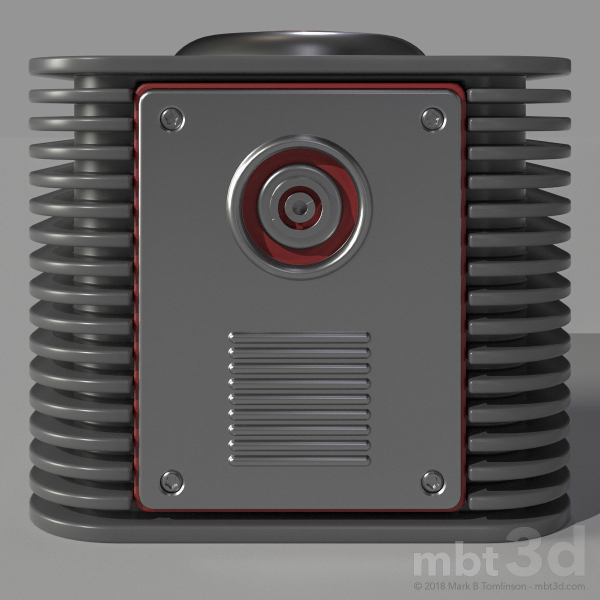 Box X: Front. Hard surface Boolean MODO exercise