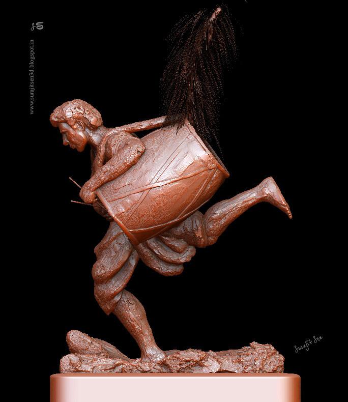 Surajit sen dhaki digital sculpt by surajitsen 18102018 sculpt