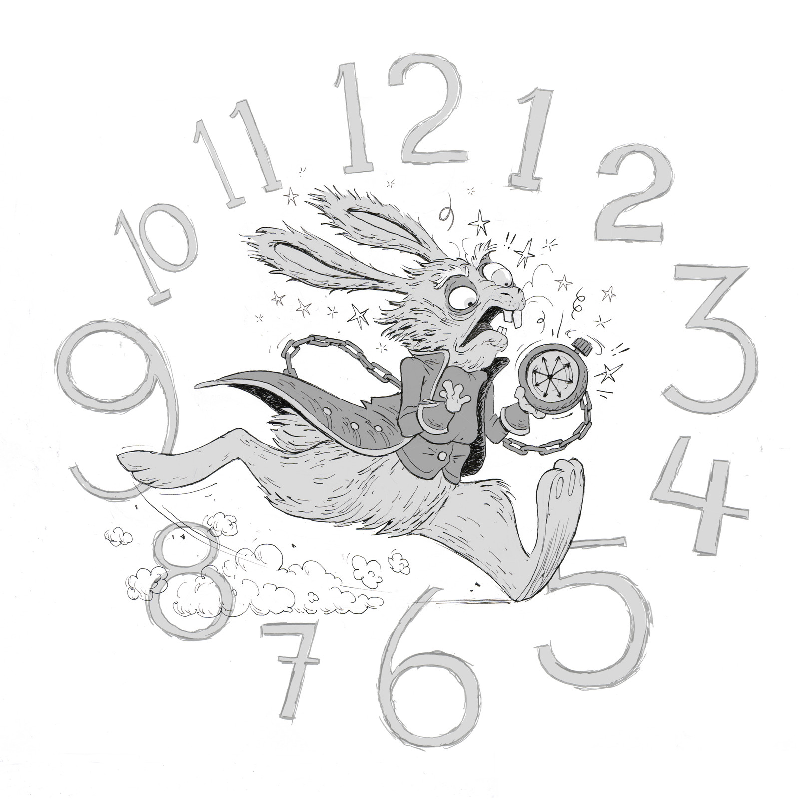 "Inktober Day #14 ""Clock"""