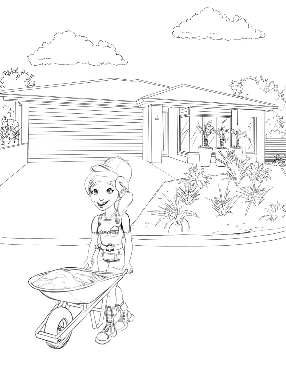 Grange wallis colouring in page 02
