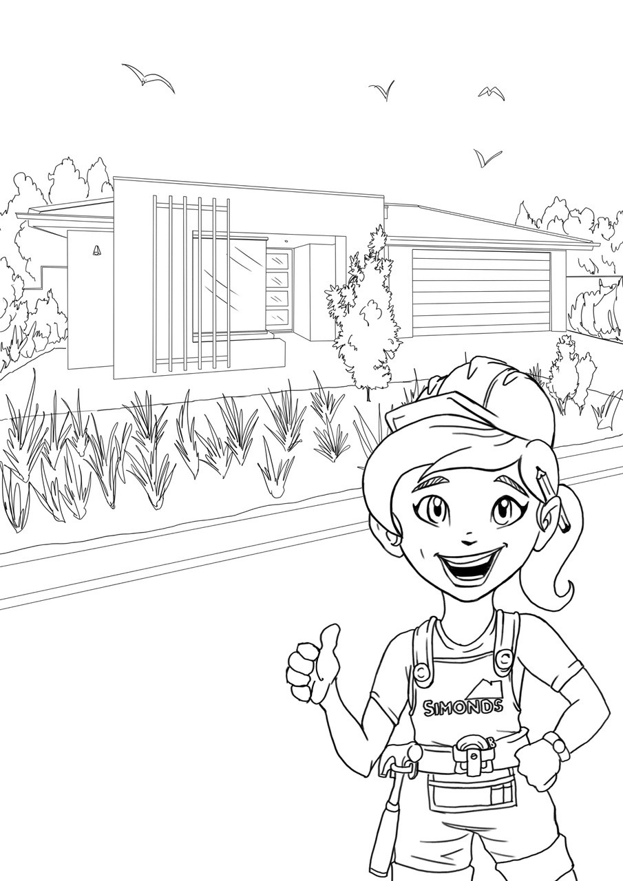 Grange wallis colouring in page 08